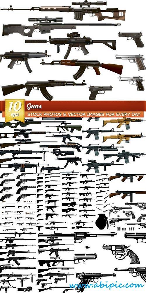 دانلود وکتور اسلحه Vector Guns