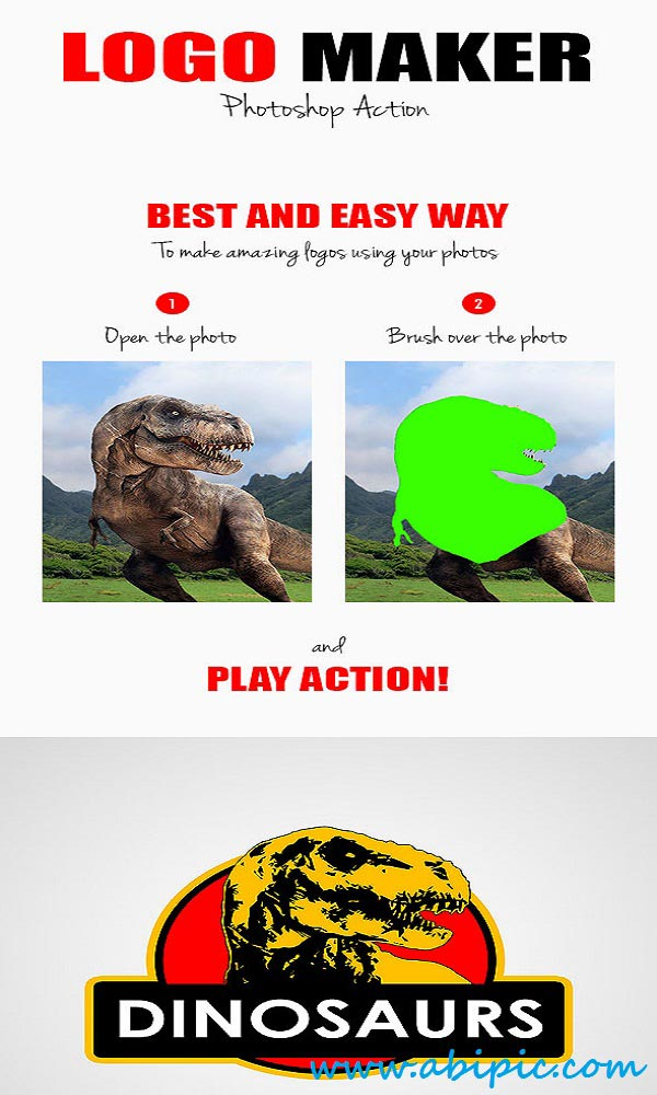 دانلود اکشن فتوشاپ لوگو ساز  Logo Maker Photoshop Action