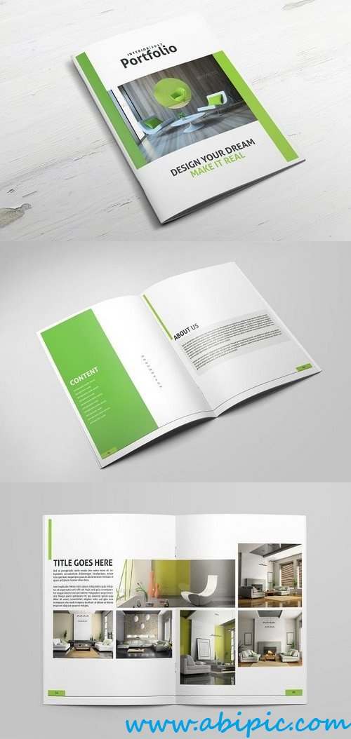 دانلود بروشور برای نمونه طراحی های و دکوراسیون داخلی Interior portfolio