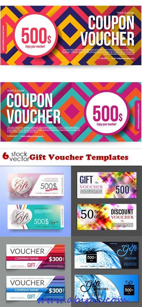 دانلود وکتور ووچر  Vectors - Gift Voucher Templates