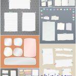 دانلود تکسچر و تصاویر استوک تکه های کاغذ پاره شده و برگه دفتر