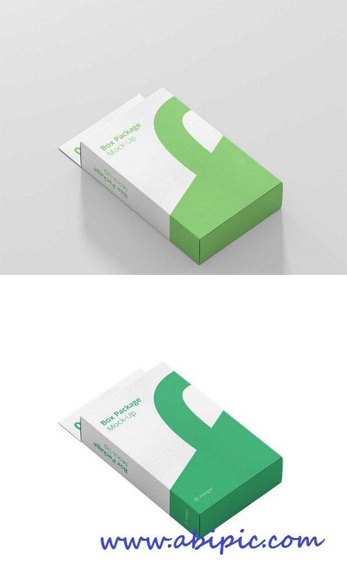 دانلود طرح لایه باز موک آپ جعبه و بسته بندی Packaging Box PSD Mockup