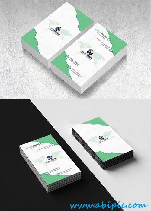 دانلود طرح لایه باز کارت ویزیت عمودی PSD Vertical Business Card